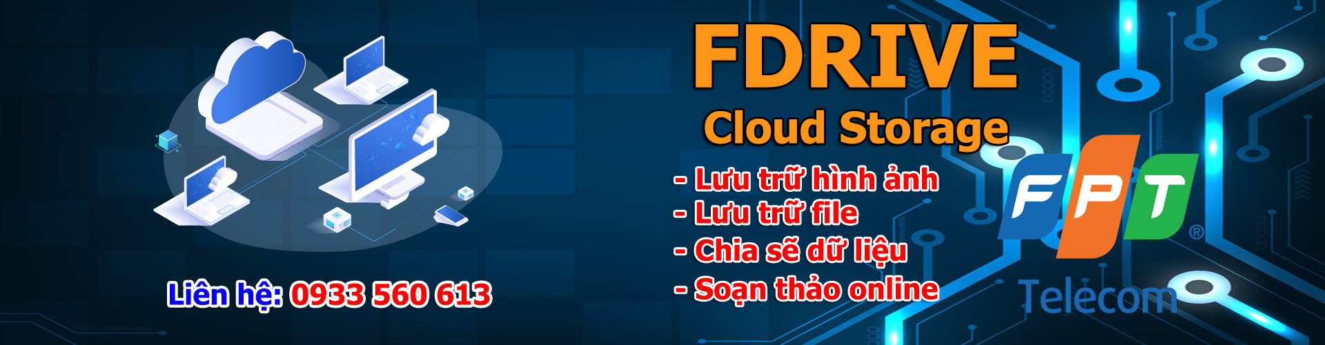 Fdrive - Lưu trữ online - Chia sẽ - đồng bộ dữ liệu - bảo mật