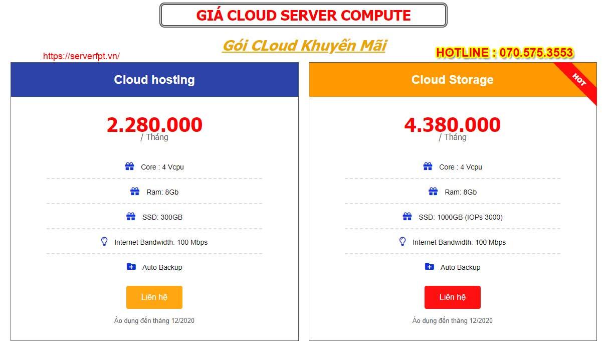 Cho thuê máy chủ ảo - Cloud server FPT giá rẻ 300k?